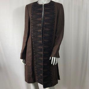Linda Allard Ellen Tracy Coat Tunic Outerwear